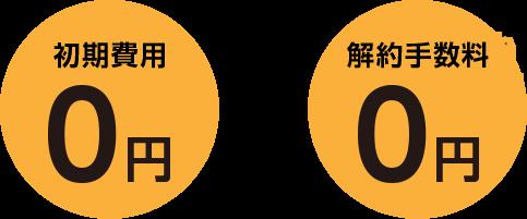 初期費用0円&解約手数料0円